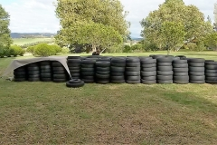 Pipers River cleaned tyres ready for collection